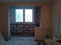 Демонтаж подоконных блоков (газобетон)