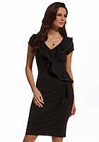 Женское летнее трикотажное платье черного цвета. Модель 210108 Enny, весна-лето 2016.