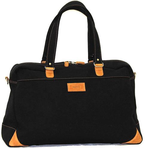 Дорожная прочная сумка из натурального хлопка 30 л. VATTO В14Hl4Kr190 черный