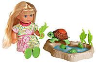 Кукольный набор Эви с семьей черепашек, 12 см, Evi Love Simba