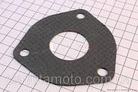 Прокладка глушителя большая на 3 болта (колено-глушитель) скутер 50-100 куб.см
