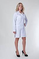 Медицинский халат в белом цвете длинный рукав