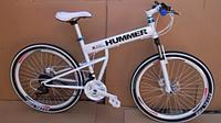 Горный велосипед Hummer с жесткой складной рамой 26d.Спицы.