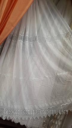 Тюль шифоновая с макраме ST-25 оптом, фото 2