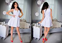 Платье женское короткое без рукавов со змейкой P1048, фото 1