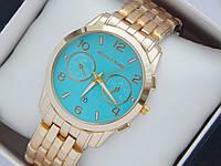 Женские (Мужские) кварцевые наручные часы Michael Kors на металлическом ремешке с датой, фото 1