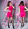 Платье женское короткое трикотажное без рукавов на молнии P1049