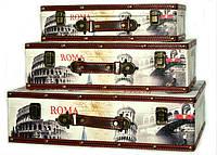 """Подарочные чемоданы """"Italy"""" набор 3 шт для хранения вещей"""