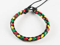 Браслет плетеный косичкой разноцветный