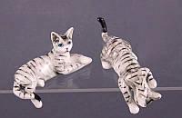 """Комплект фигурок фарфоровых 2 шт., 9 см. """"Кошки"""" серый"""