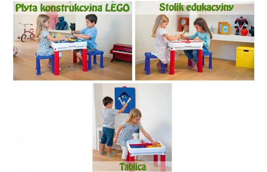 столик  Keter для детей, игровой столик Keter для игры с конструктором