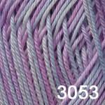 Пряжа для вязания BEGONIA MELANGE (Бегония меланж) бел-голуб-розов 3053