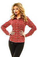 Женская рубашка цветочный принт, фото 1