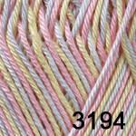 Пряжа для вязания BEGONIA MELANGE (Бегония меланж) радужный 3194