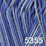 Пряжа для вязания BEGONIA MELANGE (Бегония меланж) голуб-синий 5355