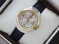 Мужские (Женские) кварцевые наручные часы Tissot Mini на кожаном ремешке с датой, фото 1