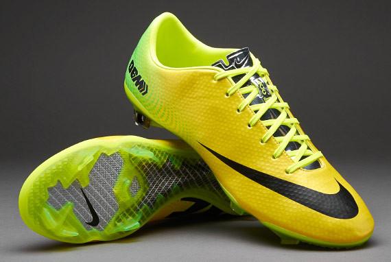 Бутсы Nike Mercurial Vapor IX FG 555605-703 Желтые, Найк меркуриал (Оригинал)