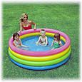 Дитячий надувний басейн Intex 56441 «Веселка», 168 х 46 см, фото 2