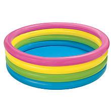 Дитячий надувний басейн Intex 56441 «Веселка», 168 х 46 см