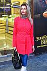 Короткое женское пальто с поясом