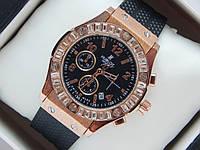 Женские кварцевые наручные часы Hublot на каучуковом ремешке со стразами Swarovski, фото 1
