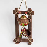 """Оберіг з кераміки """"вертикальна Рамка"""