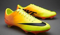 Бутсы Nike Mercurial Vapor IX FG 555605-708 Оранжевые, Найк меркуриал (Оригинал), фото 2