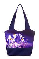 Весенняя женская сумка с ромашками