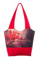 Весенняя женская сумка красная, фото 1