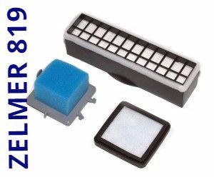 Для пилососа Zelmer Aquario 819 (zvc712) набір фільтрів