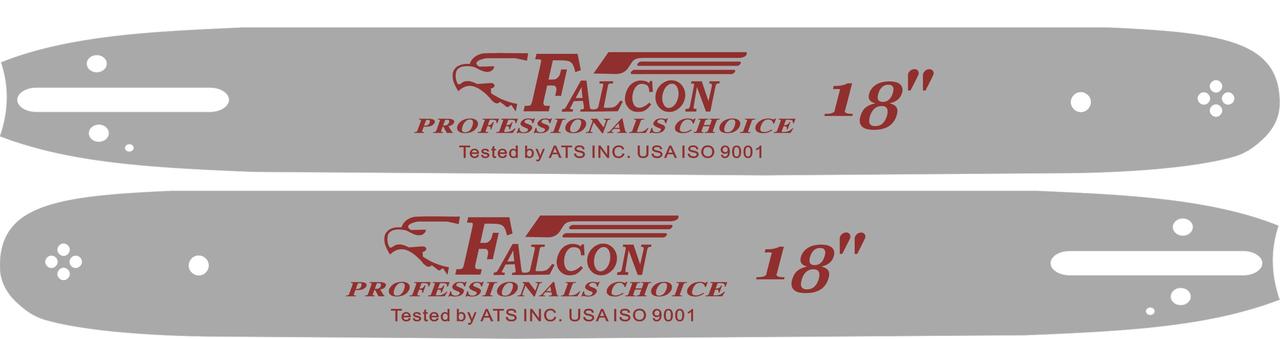 Шина 45 см для бензопил Oleo-Mac 971, 985, Efco, паз 1.5 мм, шаг 3/8, 68 звена