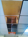 Алюминиевые потолочные плиты - Золото, супер золото Золото 600х600, фото 3