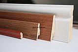 Супер профиль МДФ плинтус, высота 82 мм., длина 2,8 м Венге, фото 4