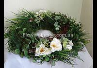 Свадебный венок  из искусственных цветов d-50см (прокат)