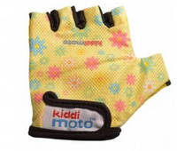 Детские защитные перчатки Kiddi Moto S, цвет жёлтые с цветами