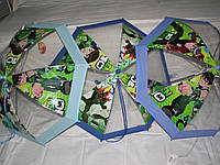 Прозрачный детский зонт Ben10 на возраст до 5-6 лет