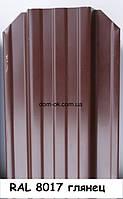 Металлический штакетник RAL 6005 2х сторонний RAL 8017