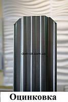 Металлический штакетник RAL 6005 2х сторонний Оцинковка