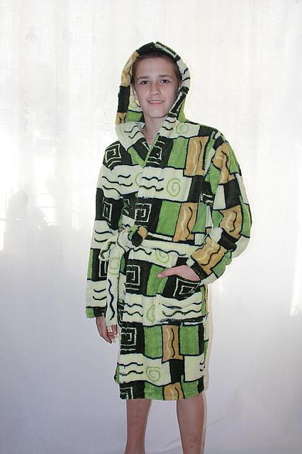 Халат махровый подростковый для мальчиков