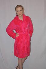 Махровый халат на молнии с капюшоном, фото 2