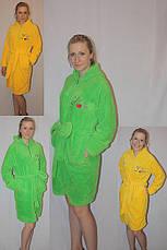 Махровый халат на молнии с капюшоном, фото 3