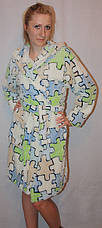 Махровый халат на запах цветной, фото 3