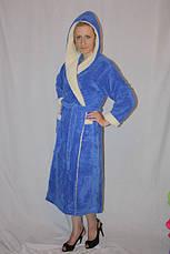 Халат длинный с двойным капюшоном, фото 2