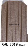 Металлический забор Жалюзи из матового металла RAL 8019