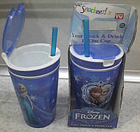Стакан Snack&Drink 2 в 1 Frozen, фото 1