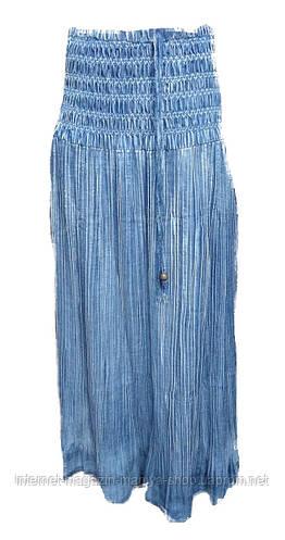 Юбка женская джинсовая длинная