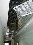 Реечный подвесной потолок, золото-зеркало С-2, фото 9