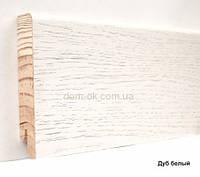 Шпонированный плинтус Ключук Дуб белый высотой 60 и 80мм 80х18мм., фото 1