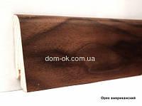 Плинтус Ключук шпонированный Орех американский высотой 60 и 80мм 60х18мм., фото 1