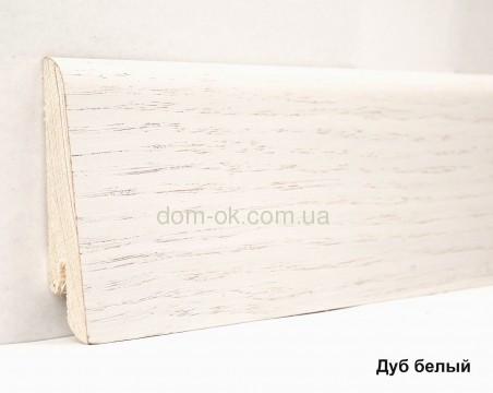 Шпонированный плинтус Ключук Дуб белый высотой 60 и 80мм 60х18мм.